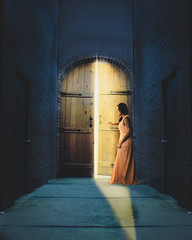 There's always hope (Lisa Marie Gonzalez) Tags: door doors light dark night hope hallway model girl lady woman dress photography photographer photoshoot photomanipulation photoshop photoshopped edit edited manipulated composite composition fineart fineartphotography conceptual creative imagination hopeful