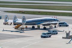 Lockheed L-1049 Super Constellation HB-RSC (airliners.sk, o.z.) Tags: conie super constellation breitling jet team vieloww vie history lockheed airlinerssk hbrsc