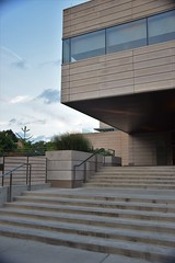 Cantilever (marensr) Tags: steps architecture chicago university uchicago blue sky clouds stairs linear block booth school business