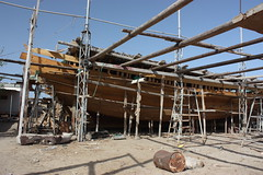 Dhow building yard, Sur (RadioKate) Tags: oman oman2016 travel travelogue sur boat boats dhow boatyard