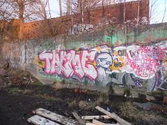 Glasgow, Graffiti (MindlessVandalism) Tags: streetart art abandoned graffiti scotland unitedkingdom glasgow character theme graff piece throwup throwie