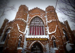 Salem Witch Museum (StirlingCreative.com) Tags: white snow squall nemo snowstorm salem snowfall blizzard salemma windstorm witchmuseum thewitchcity winterstormnemo blizzardof2013