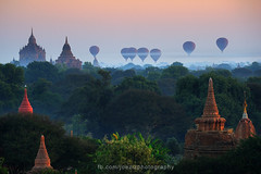 Balloon @ Bagan (joeziz EK pholrojpanya) Tags: from thailand view you photos or everyone imagex seax photox cityx naturex artistx photographyx nightx nikonx travelx landscapex gettyx twilightx imagesx cityscapex skylinex fototrovex picksx