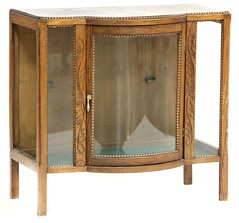 58. Diminutive Oak Bow Front Display Cabinet