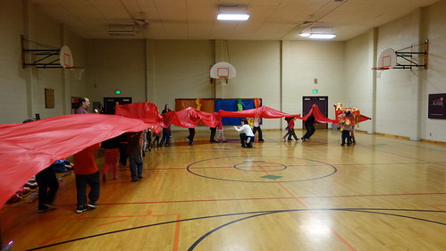 Kindergarten Dragon Dance in PE...