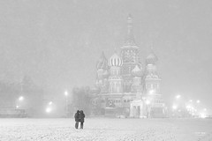 Moscow - St Basel's Cathedral (sadaiche (Peter Franc)) Tags: christmas xmas winter bw cold church cathedral russia moscow basel snowing 29 redsquare basels freakingfreezing stbasel stbaselscathedral