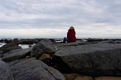 16-2-2013 (Copperhobnob) Tags: sea portrait sky coast sand rocks waves stcombs stcombsbeach