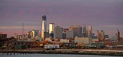 Across the Docks (Paul J's) Tags: new york city nyc red newyork ikea water skyline docks manhattan taxi hook