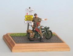 Normandy, June 1944 (S. Bathy) Tags: motorbike british normandy bsam20 tamiya135
