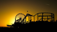 The rides (jdrephotography) Tags: california ca travel sunset urban usa color silhouette yellow cali gold pier dusk santamonica ngc manmade santamonicapier goldensunset nationalgeographic urbanphotography travelphotography sunsetphotography silhouettephotography goldehour