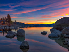 Tahoe Sunset (mojo2u) Tags: sunset nevada laketahoe boulders zephyrcove nikon2470mm nikond800