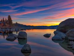 Tahoe Sunset (mojo2u) Tags: sunset nevada laketahoe boulders zephyrcove nikon2470mm nikond800