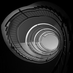 yet another staircase (up) [EXPLORE 2013-02-18] (pix-4-2-day) Tags: stairs staircase steps black white schwarzweis treppenhaus treppe architecture architektur pix42day explore explored stairway