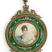 156. French Portrait Miniature Vanity Mirror