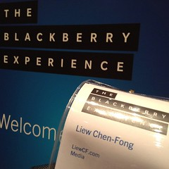 LiewCF is at BlackBerry Z10 smartphone launch event in Malaysia!