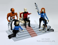 Make it so! (Ochre Jelly) Tags: trek star lego convention scifi starfleet trio worf wes emerald comicon picard wheaton crusher moc afol eccc stng makeitso