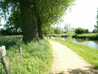fietsen langs de Niers in de Nierderrhein