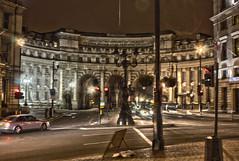 London at night (Crisp-13) Tags: london night dark square arch trafalgar hdr admiralty