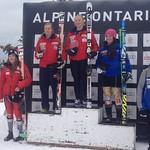 U18 Nationals GS at Georgian Peaks - BC Team's Hallie MacLachlan (Fernie Alpine Ski Team) fastest BC girl finishing 5th PHOTO CREDIT: JP Daigneault