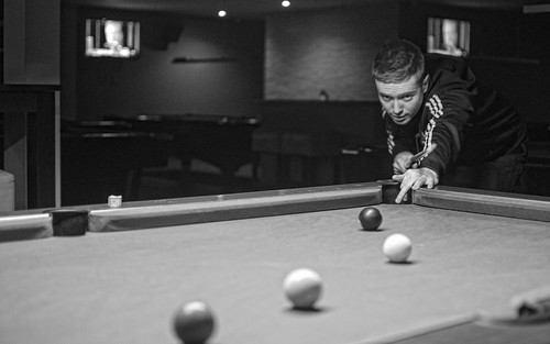 Craig Playing Pool