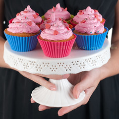 Sweet cupcake (Oxana Denezhkina) Tags: pink wedding party food woman home cup rose cake vintage studio cakestand square dessert high afternoon shot tea sweet handmade eating chocolate background object plate selection gourmet delicious fairy cupcake sprinkles snack icing iced diet ornate luxury assortment isolated frosting unhealthy array baked gastronomy frosted decorated buttercream fattening fashioned