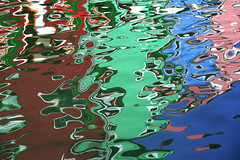 Reflections In Burano (violinconcertono3) Tags: blue venice red italy abstract reflection green water catchycolors burano davidhenderson londonphotographer 19sixty3