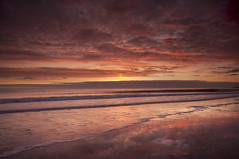 Morning Glory (Elidor.) Tags: sea sky reflection clouds sunrise dawn waves northumberland 1020 eastcoast spittal d90 silverrainbow