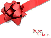 Red Bow Ribbon Buon Natale (One Way Stock) Tags: xmas family winter tree holidays card present ribbon natale buon