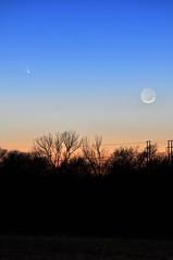 Comet Pan-STARRS-MBG (Matt Garner) Tags: moon night dusk space crescent astronomy comet crescentmoon panstarrs mattgarner