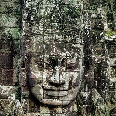 Stone Faced (violinconcertono3) Tags: sculpture art religious temple ancient asia cambodia religion angkorwat angkor bayon davidhenderson londonphotographer 19sixty3