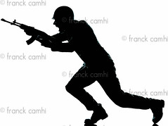army soldier man on assault (Franck Camhi) Tags: shadow white man male silhouette infantry cutout private walking soldier army rebel one war gun fighter military helmet guard attack fulllength running run assault indoors whitebackground weapon unknown shooting studioshot handgun runner isolated machinegun forces oneperson armedforces armed caucasian irregular aiming oneman armysoldier