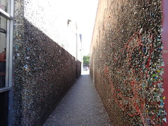 Gum Wall - San Luis Obispo (Bishop98) Tags: california new sunset sky sun beach nature coffee cake wall port gum pier big cafe sand san feathers pelican luis avila obispo