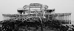 West Pier (howzey) Tags: snow abandoned architecture sussex coast pier brighton decay victorian westpier derelict