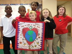 Mrs. Winki Allen's Monday's Quest Class at Southeast Elementary School in Meridian, Mississippi (International Fiber Collaborative, Inc.) Tags: christmas family school trees people mountain newyork green art home water nova animal glitter kids trash stars religious washington community war paint peace kentucky space flag unitedstatesofamerica group cancer conservation diversity astronaut felt save aliens nasa clean explore health environment leader twintowers express olympic agriculture racism elementary planting abuse humans equality global facebook discover intolerance saturnvrocket presidentobama internationalfibercollaborative thedreamrocket