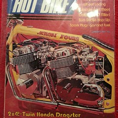 Radshit archive.  My dad's old dragbike on the cover of #hotbike (eat balls) Tags: square squareformat normal iphoneography instagramapp uploaded:by=instagram