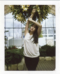 May Day (_daniellegrace_) Tags: flowers woman plants color film beauty polaroid experiment conservatory expired