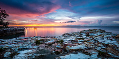 Sunset after the Storm (Nolan Caldwell) Tags: sunset cloud coast rocks nt australia darwin coastline topend wetseason the4elements thetopend nighcliff d800e