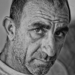 John (big andrei) Tags: leica portrait bw man grain cyprus 75mm20