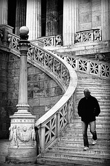 steps of wisdom (bostankorkulugu) Tags: blackandwhite bw white man black lamp monochrome sepia architecture stairs greek blackwhite alone geometry walk library pillar steps hellas oldman athens greece lamppost column socrates wisdom bostanci griffin gryphon trilogy neoclassical griffon bostan korkut ellada atina attiki  attika theophilhansen nationallibraryofgreece  ernstziller bostankorkulugu stepsofwisdom neoclassicaltrilogy stepstowisdom stepstowardswisdom
