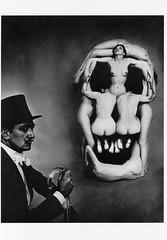 Crâne et Dali (photosurrealiste) Tags: dali surrealisme halsman philippehalsman