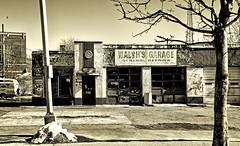 General Repairs (PAJ880) Tags: bw ma garage lynn walshs