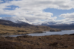 Loch Assynt (charly-marion) Tags: blue sky snow mountains water clouds scotland spring hills loch sutherland upland assynt