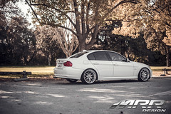 BMW_E90_MRR_GT7_WHEELS_01 (MRR WHEELS) Tags: white silver wheels bmw hyper hs concave bimmer mrr e90 gt7 335i