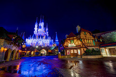Magic Kingdom: Cinderella Castle (Hamilton!) Tags: world vacation usa lake tower castle wet rain stone night zeiss bay orlando long exposure florida sony magic main tripod hamilton wide kingdom disney resort carl wishes land vista walls cinderella walt za ultrawide ultra hdr gitzo slt relfections fantasyland 1635 uwa a99 variosonnart281635 pytluk