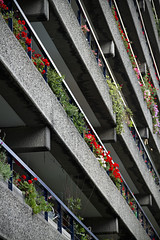 Social Stratification (The New Motive Power) Tags: city urban plants london lines architecture modern contrast concrete moody estate vibrant centre arts modernism barbican foliage podium balconies convergence colourful simple complex brutalism brutalist btonbrut canon7d