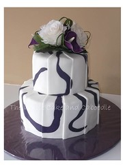 sarah (The Whole Cake and Caboodle ( lisa )) Tags: wedding cakes rose cake sarah lily purple swirl swirls caboodle