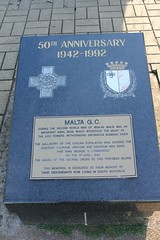 Memorial to Malta G.C., at Prospect, South Australia (Community History SA) Tags: signs memorial wwii malta worldwarii adelaide prospect secondworldwar interpretive heritagetrail georgecross southaustraliasa175