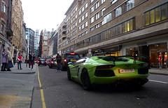 Attention Seeking (BenGPhotos) Tags: uk england green london car design italian unique 4 modified custom tuning edition lamborghini rare supercar spotting oakley nasser v12 tuned spotters 2013 hypercar 111191 aventador lp700 lp760