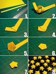 Tutorial: Lucky Origami Nintendo Stars (skels) Tags: yellow star origami geek nintendo craft howto videogame tutorial luckystar geekcraft