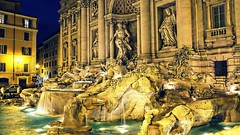 Trevi Fountain - Rome (>Cluke) Tags: pictures italy sculpture hot rome colour art water architecture digital drops cool italia waves fuji awesome digitalart perfectday artsy trevifountain fujifilm picturesque visualart xe1 colourlicious cluke fujifilmxe1 fujixe1